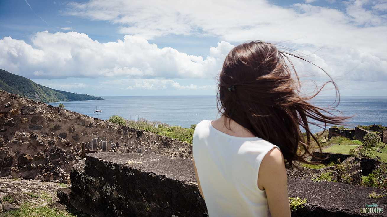 Vue-Fort-Delgres-mer-Basse-Terre