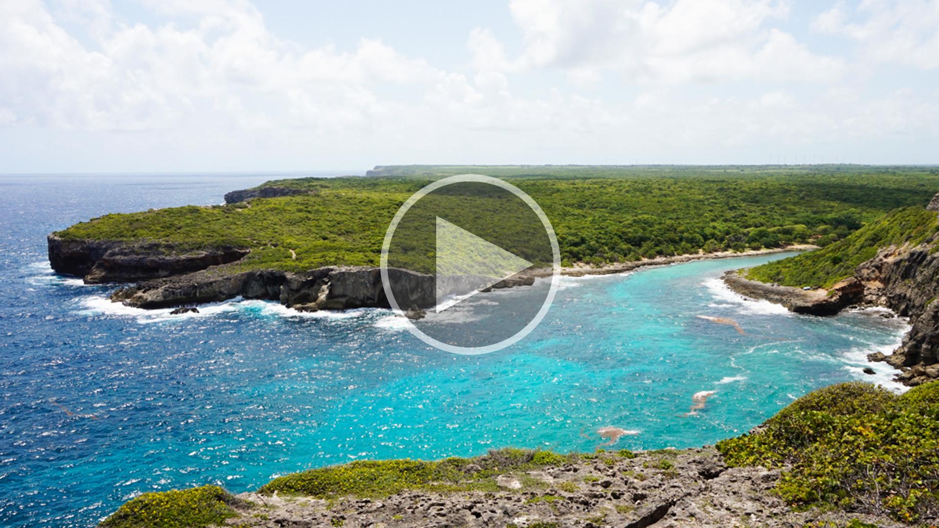 Porte d'Enfer Guadeloupe, panorama falaises
